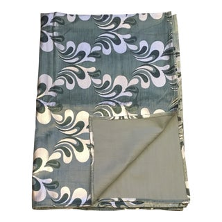Paisley Aqua, Green and Silver Foiled Velvet Blanket