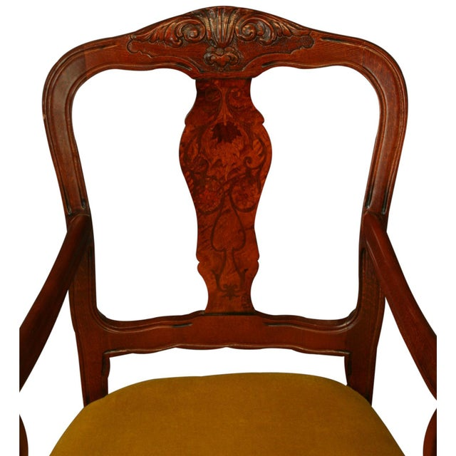 Italian Rococo Arm Chair with Inlaid Marquetry - Image 3 of 8