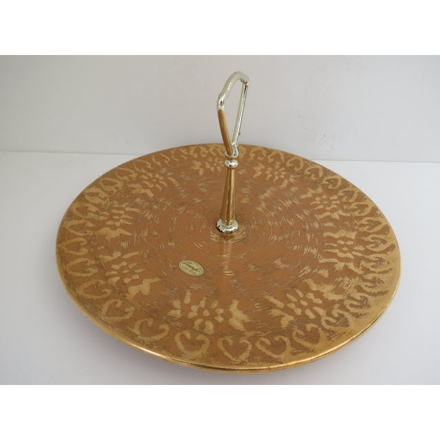 Image of Stangl 22k Gold Serving Tray