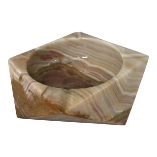 Vintage Faceted Italian Onyx Ashtray