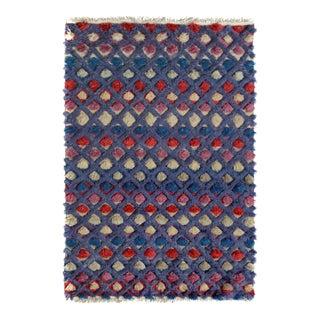 """Moroccan Arya Enoch Purple & Pink Wool Rug - 4'4"""" x 6'2"""""""