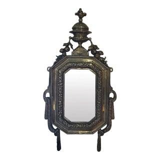 Small Brass Framed Mirror