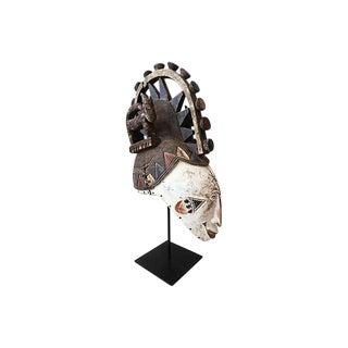 African Igbo Mask w/ Custom Stand