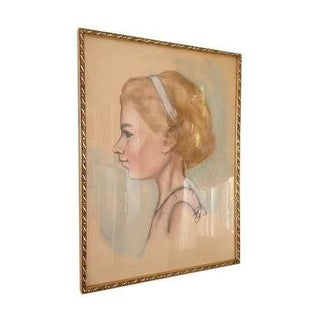 Vintage Sketch of Young Girl