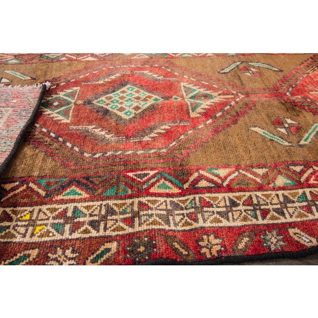 "Apadana Vintage Hand Knotted Persian Rug - 3'5"" X 7'2"" - Image 7 of 7"