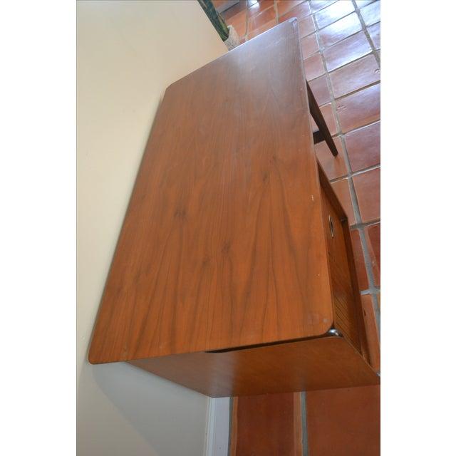 Hooker Mid-Century Walnut Small Floating Desk - Image 6 of 8