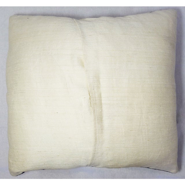 Embroidered Purple Velvet Pillow - Image 5 of 5
