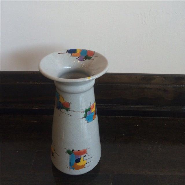 Deruta Italian Pottery Tall Vase - Image 2 of 8