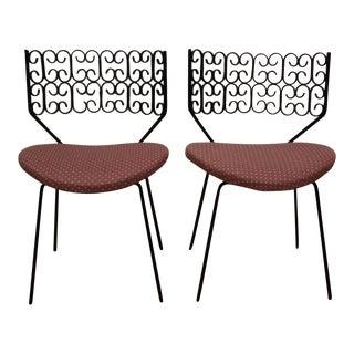 Arthur Umanoff Wrought Iron Chairs - A Pair
