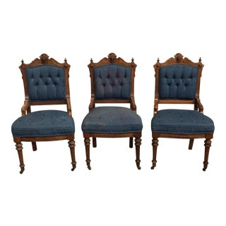 Set of Three Victorian Parlor Chairs