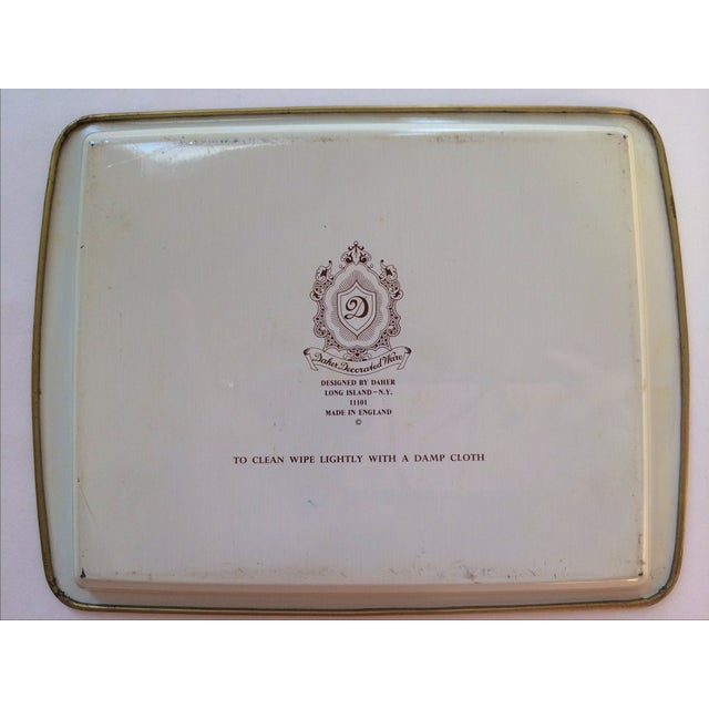 Dasher Decorated Ware Floral Tray - Image 7 of 8