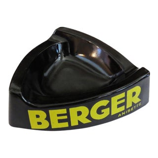 1960s Black Berger Ashtray