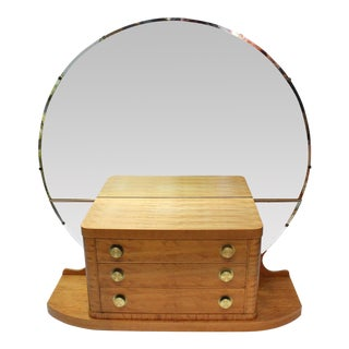 Art Deco Vanity with Round Mirror
