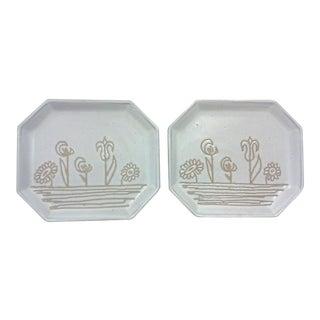 Martz Floral Plates - A Pair