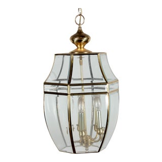 Brass & Glass Ceiling Lantern