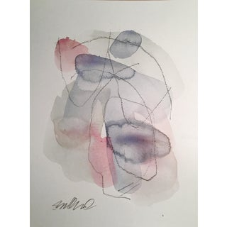 """Structured Powder"" Original Watercolor & Charcoal Painting"