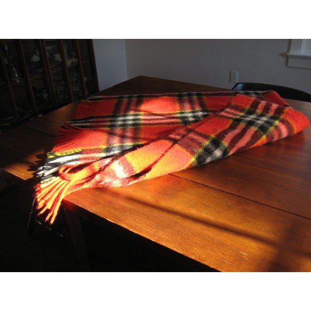 Red Plaid Arno Wool Camp Blanket - Image 5 of 6