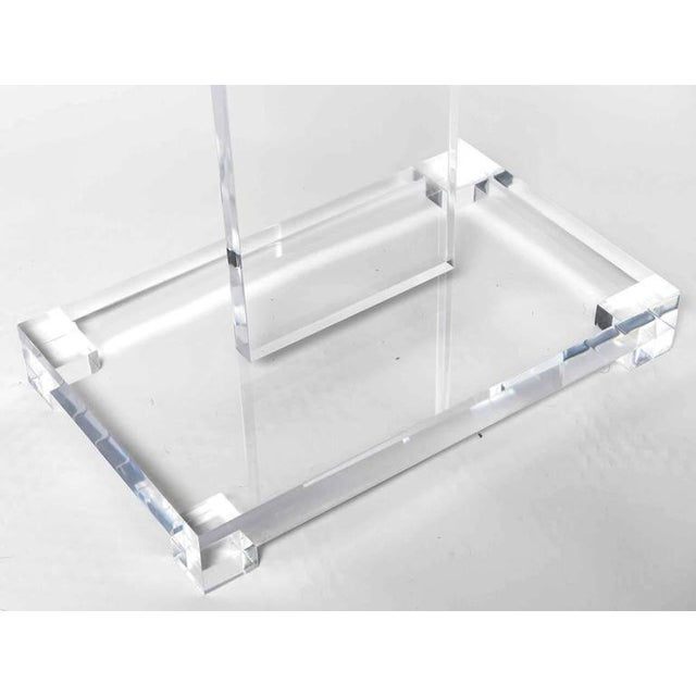 Image of Thick Lucite Art or Display Easel