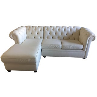 Pottery Barn Tufted Sectional Sofa