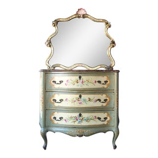 Vintage Venetian Dresser and Mirror Set
