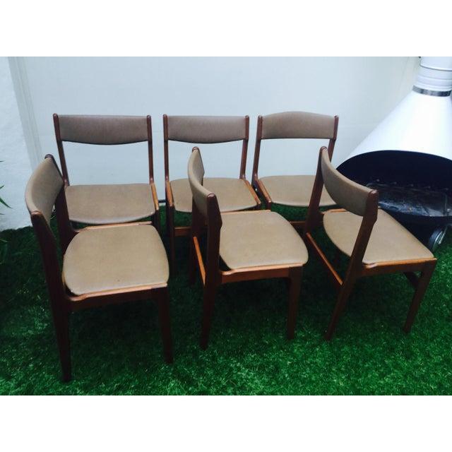 Image of Danish Modern Mid Century Dining Chairs - Set of 6
