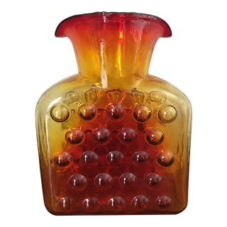 Wayne Husted Amberina Bubble Pitcher for Blenko