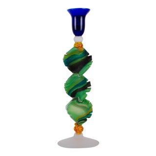 Ioan Nemtoi Art Glass Candlestick