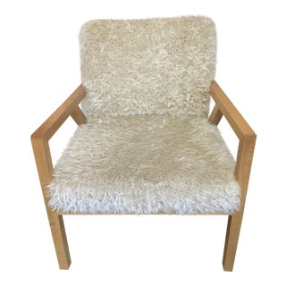 Custom Wood & Shag Flokati Chair