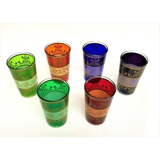 Moroccan Handpainted Tea Glasses - Set of 6 - Image 5 of 5