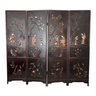Antique Chinese Screen of the Four Seasons