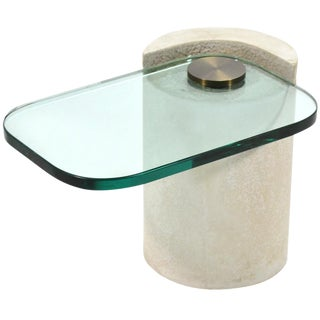 "Karl Springer ""Sculpture Table"" in Sandstone"
