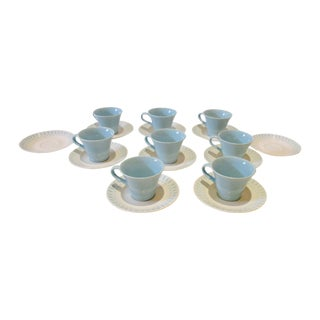 Mid Century Modern Atomic Starburst Cups & Saucers - 18 Pc