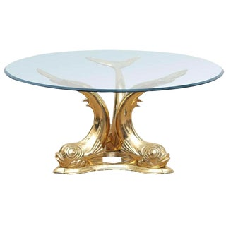 Brass Dolphin Coffee Table