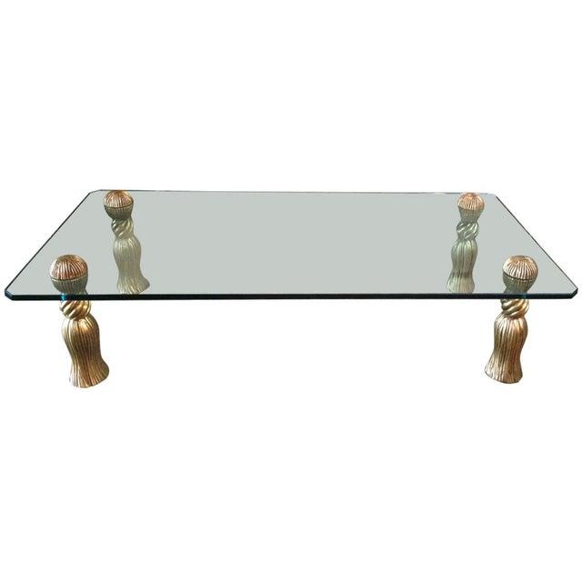 Phyllis Morris Gold Tassel Coffee Table - Image 1 of 4