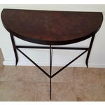 Image of Iron & Acid Washed Copper Console Table