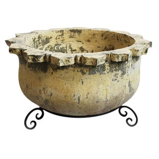 Earthenware Clay Pot With Stand