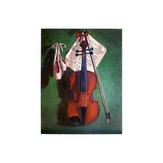 Violin & Ballet Shoes Trompe L'oeil Painting