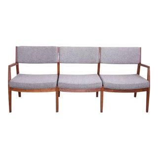 Jens Risom Three-Seat Sofa by Jens Risom Inc. in Solid Walnut