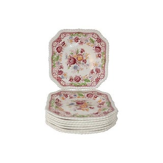 English Ironstone Salad Plates - Set of 8
