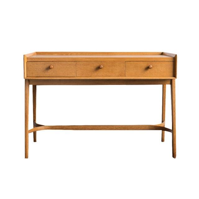 Heals Three Drawer Oak Vanity Desk - Image 1 of 8