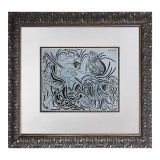 """Pablo Picasso """"Pique"""" Original Linogravure"""