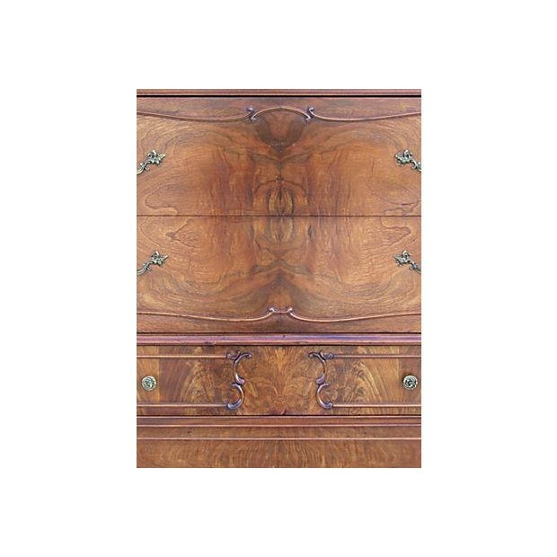 Vintage French Provincial Chest on Chest Dresser - Image 5 of 7
