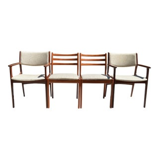 Mid-Century Modern Teak Wood Danish Dining Chairs - Set of 4