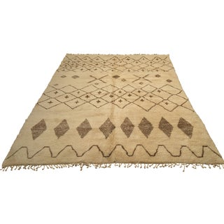 Moroccan Wool Diamond Rug - 10' x 13'8""