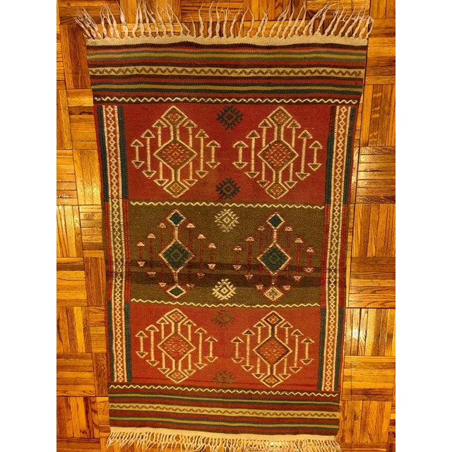 Turkish Antique Kilim Rug - 2′8″ × 4′7″ - Image 3 of 5