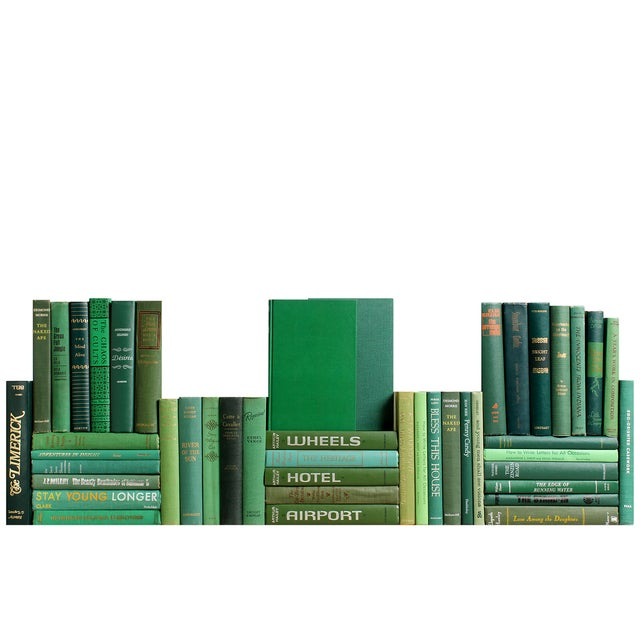 Mid-Century Green Book Wall - S/50 - Image 1 of 2