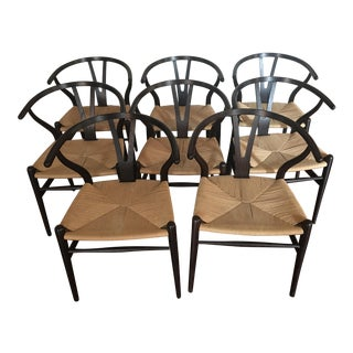 Hans Wegner Wishbone Ch24 Dining Chairs - Set of 8