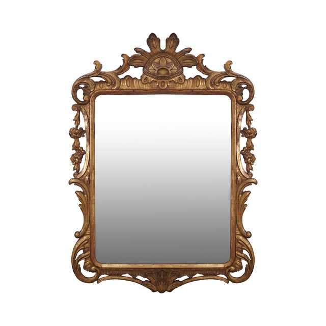 French Louis XV Gold Gilt Carved Wood Frame Mirror - Image 1 of 10