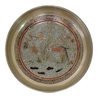 Enameled Brass Trinket Bowl