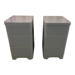 Cavalier Modern Gray Nightstands - A Pair